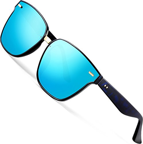 ATTCL Unisex Wayfarer Sunglasses 100% Polarized UV Protection 555 - Men Celebrity Sunglasses