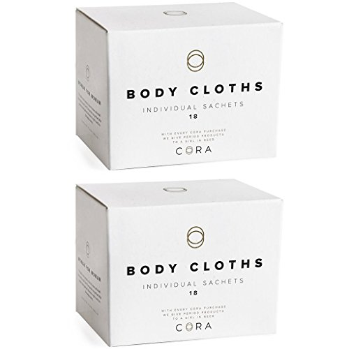 Feminine Wipes (Cora Bamboo Feminine Wipes (2 boxes; 36 count total) Plant-based moisturizers and essential oils.)