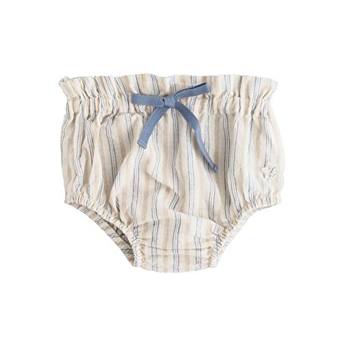 Vintage Tank Bib (Tocoto Vintage Baby Blue Stripe High Waisted Bloomers 6 Months)