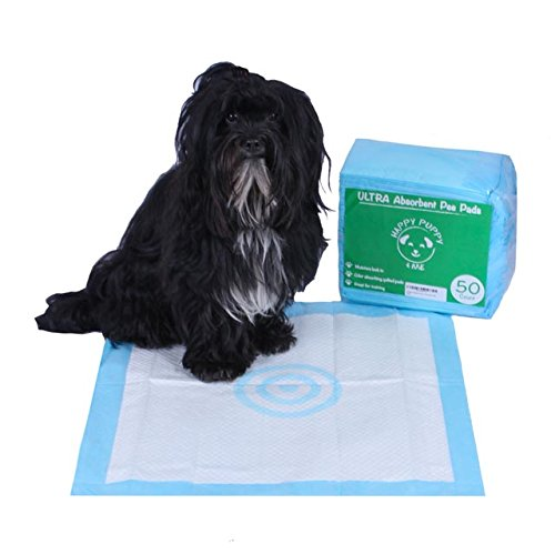 50-Count Absorbent Dog Training Pee Pads with target