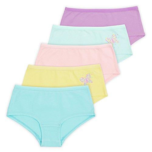 Lucky & Me Annika Little Girls Boy-Short, 5-Pack, Pastel Set, Tagless, 4/5