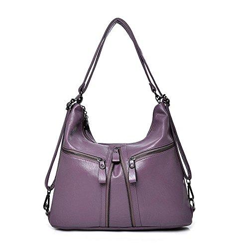 Bag Color 35cmx12cmx30cm Bag Single Penao Lady Tote Purple Soft Fashion Size Pure Leather Pu 8F1w1pq4E