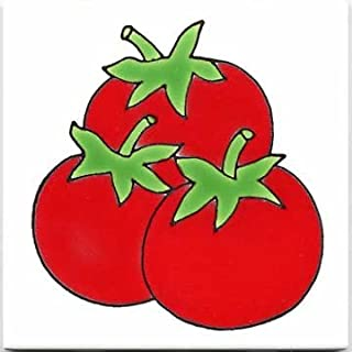 product image for FRUITS-VEGETBLES-TRIVETS-WALL PLAQUES-TOMATOES TILE
