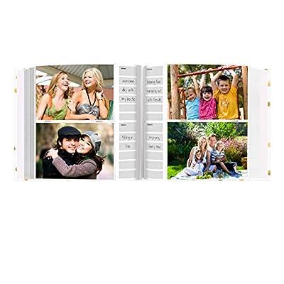 Pioneer Photo Albums EV-246/L Golden Dots Live Laugh Love 200 pkt 4x6 Photo Album Pocket, Gold