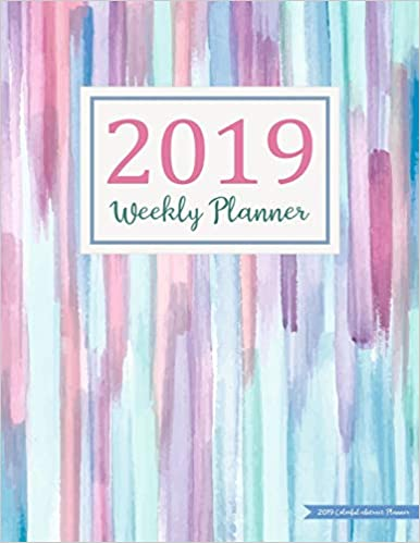 Amazon.com: 2019 Colorful abstract Planner: Daily Weekly ...