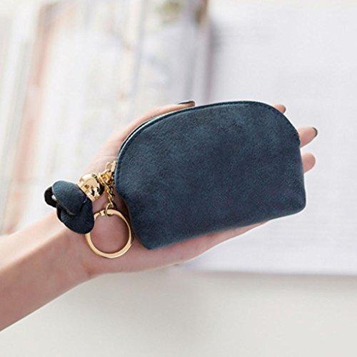Black Clutch Purse Coin Coin Leather Purses Handbag Zip Mini Women Purse Holder zxq7Pp