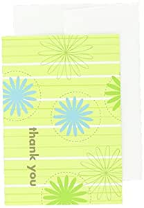 """Great Papers! Daisy Stripes Thank You Note Cards with Envelopes, 4.875""""x3.375"""", 24 Count (10675)"""