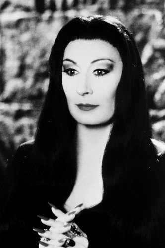 Anjelica Huston 24x36 Poster as Morticia the Addams Family from Silverscreen
