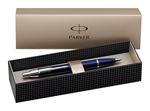 Parker IM Royal Blue Chrome Trim Ballpoint Pen Blue Chrome Pen