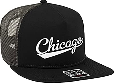 NOFO Clothing Co Chicago Script Baseball Font Snapback Trucker Hat