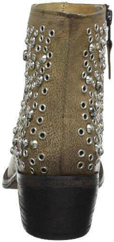Buffalo London 1013-01 NOVA 142087 - Botas de cowboy de cuero para mujer Beige (Beige (Sand))