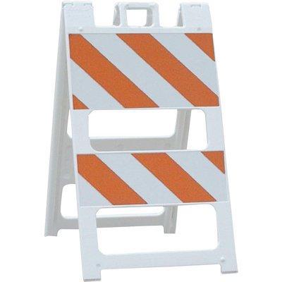 Plasticade 45in. Type II Engineer Grade Plastic Barricade - White, Model# 100-T12B8EG