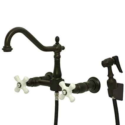 mount faucet with kitchen stream mounted wall sprayer delta for faucets