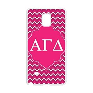 Alpha Gamma Delta Pink Samsung Galaxy Note 4 Cell Phone Case White Phone Accessories VG_912916