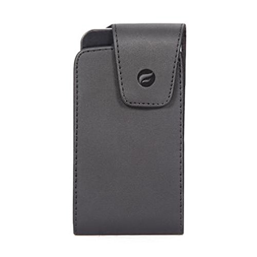 Premium Black Leather Case Cover Pouch Holder Swivel Belt Clip for AT&T Samsung Solstice 2 A817 - AT&T ZTE Z432 - Boost Mobile iPhone 4S - Boost Mobile Blackberry Curve 8530 Samsung Solstice Case Cover