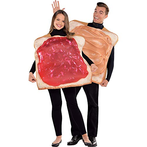 AMSCAN Peanut Butter and Jelly Classic Halloween Costume for Adults, Standard, with Included Accessories -