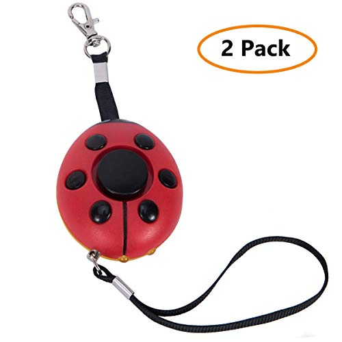 130DB Safety Emergency Personal Alarm Keychain with LED Light, Yuyue Siren song alarm keychain Self Defense Keyring, Security Lovely alarm as a gift for Women/Kids/Elderly Protection (2 Pack)