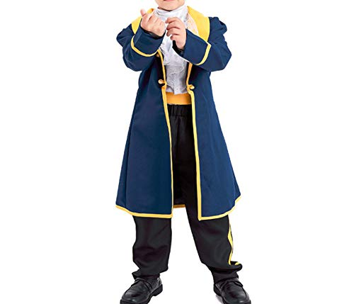 Mitef Beauty and The Beast Prince Adam Cosplay Outfits for Child, M