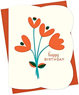 product image for Tulips Letterpress Birthday Card by Night Owl Paper Goods