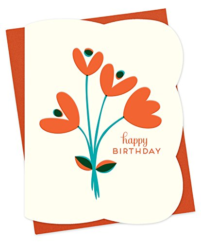 Tulips Letterpress Birthday Card by Night Owl Paper Goods