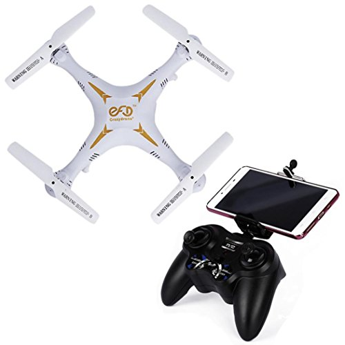 Tiean Crazydrone C1 4-axle 2.4G 2MP Dual Camera US Plug Quadcopter White FPV by Tiean