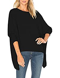 Womens Baggy Long Batwing Sleeves Tops Slouchy Pullover Casual Loose Blouse C4721