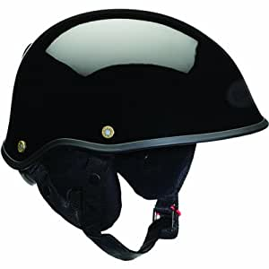 Bell Solid Drifter DLX Half Face Motorcycle Helmet - Black / X-Large/2X-Large