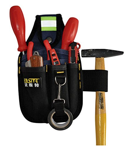 Multifunction Small Electricians Waist Tool Belt Pouch Bag (Thickened belt but no measuring   tape)