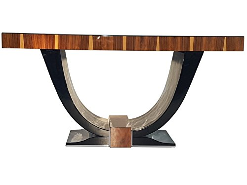 Art Desk Deco Rosewood - OAM Art Deco Design Gondola Table Rosewood