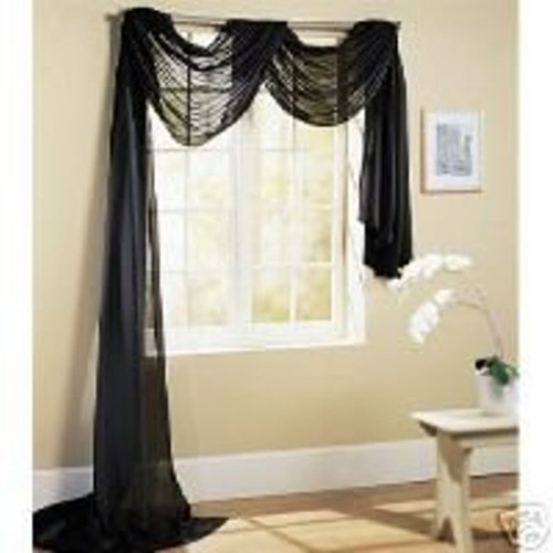 Linda Solid Sheer Voile Curtain, 60