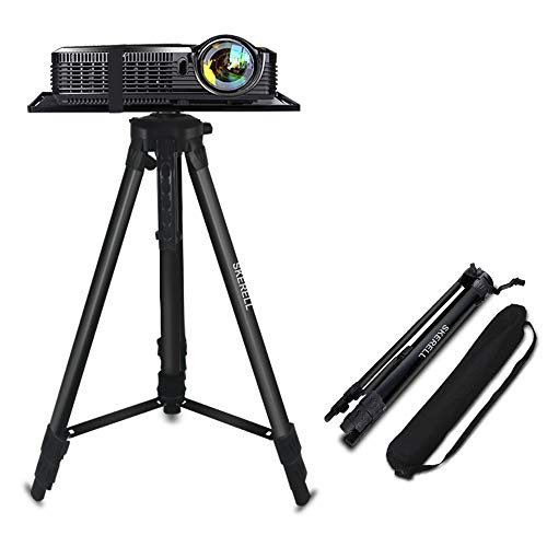 Projector Stand, Adjustable Laptop Stand, Multi-Function Stand,Aluminum Tripod Stand,Computer Stand with Plate and Carry Bag, Adjustable Height 17-46inches for Projectors/Laptops/Photography/DJ
