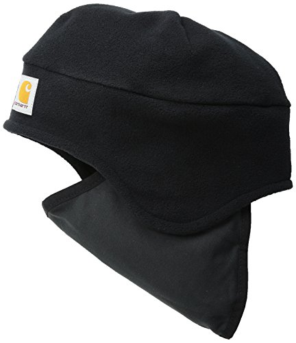 Carhartt Men's Fleece 2-In-1 Headwear,Black,One Size