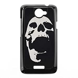HTC One X Cell Phone Case Black Screaming Skull LSO7859459
