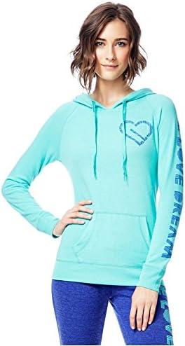 Aeropostale Womens Heart Logo Hoodie Sweatshirt
