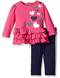 Baby-Girls Heart Cotton Interlock Tunic and Legging Set