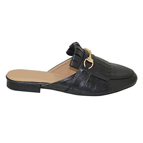 Ciara - Sandalias de vestir para mujer negro metalizado