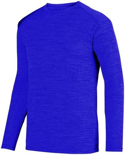 - Augusta Sportswear Shadow Tonal Heather Long Sleeve Tee M Purple