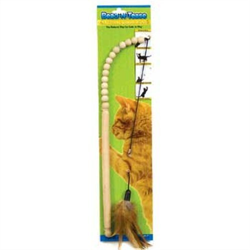 - Ware Manufacturing Wood Bead-N-Tease Wand Cat Toy