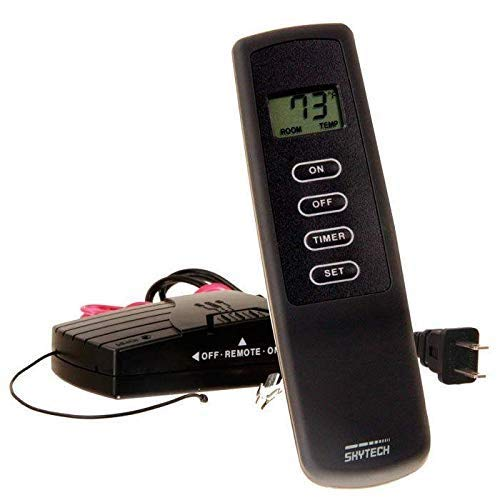 SkyTech 1410T/LCD Timer Control (SKY-1410T-LCD-A) fireplace-remotes-and-thermostats, Black by SkyTech