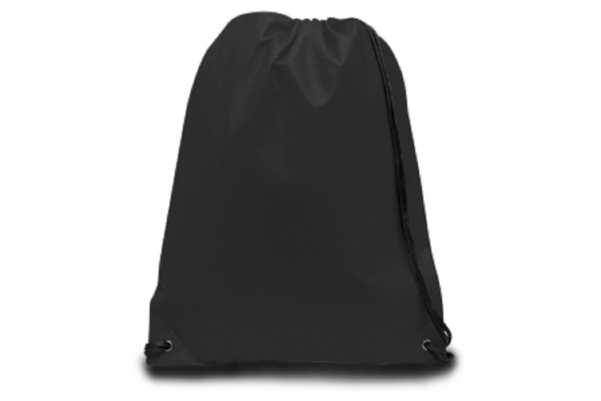 90 GRAM NON-WOVEN DRAWSTRING, Black, Case of 60 by DollarItemDirect
