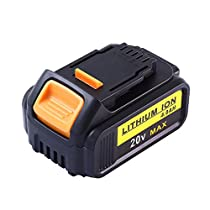 Topbatt Replacement Battery for Dewalt 20V 4.0Ah Max XR Lithium Cordless Drill DCB200 DCB180