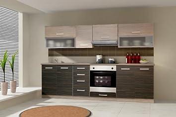 Küche Limed 260cm Küchenzeile / Küchenblock variabel stellbar in ...