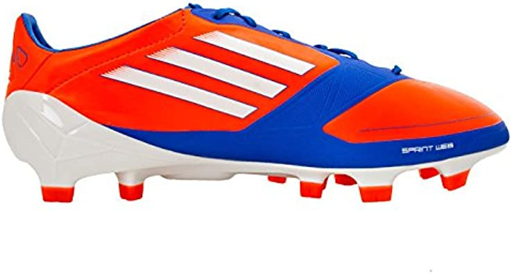 alineación fábrica dividendo  Amazon.com | adidas F50 adizero TRX FG J SYN Little Kid/Big Kid Soccer  Cleats (4, Infrared/Running White/Bright Blue) | Soccer