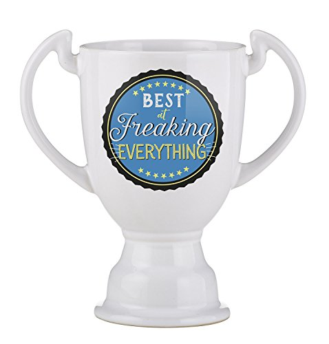 Creative Brands Best Freaking Trophy Ceramic Coffee Mug, 14 oz, Everything