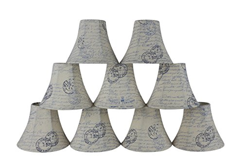 Urbanest Set of 9 Chandelier Lamp Shades, 3-inch by 6-inch b