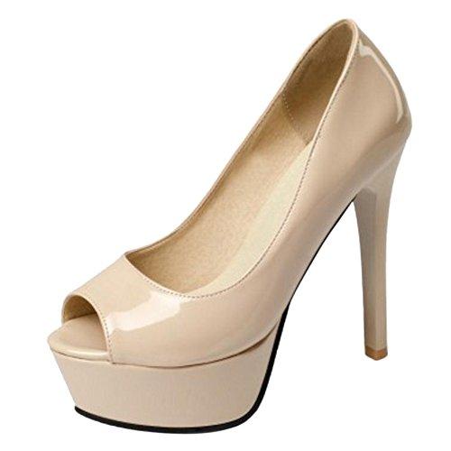 Zapatos rosas Tacón de aguja para mujer jJ07eiYU
