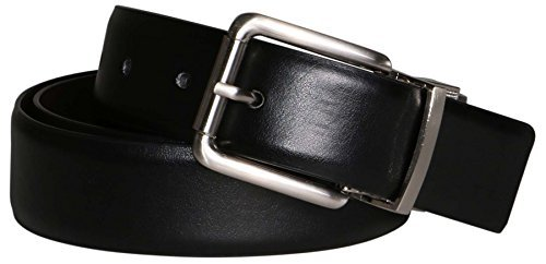 Frame Klein Calvin (Calvin Klein Men's Reversible Leather Belt-Frame-Black/Brown Genuine-38)
