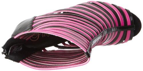 Pleaser - Sandalias mujer, - Black/Neon H.Pink, 40