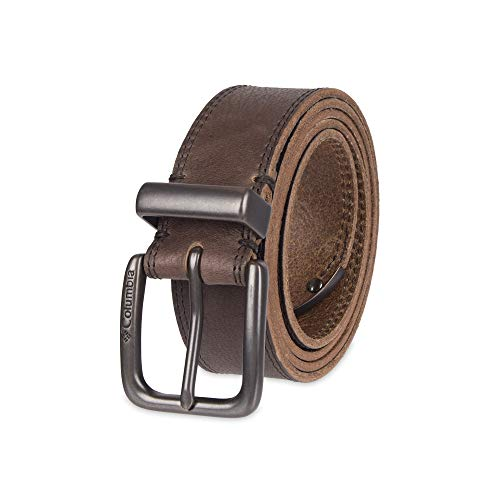 Columbia Men's Alphine Logo Belt, Brown tip, Small (32-34)