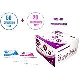 Wondfo 50 Ovulation Test Strips and 20 Pregnancy Test Strips Kit (50 LH + 20 HCG)